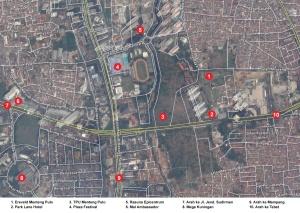 Peta lokasi Makam Kehormatan Belanda di Jakarta